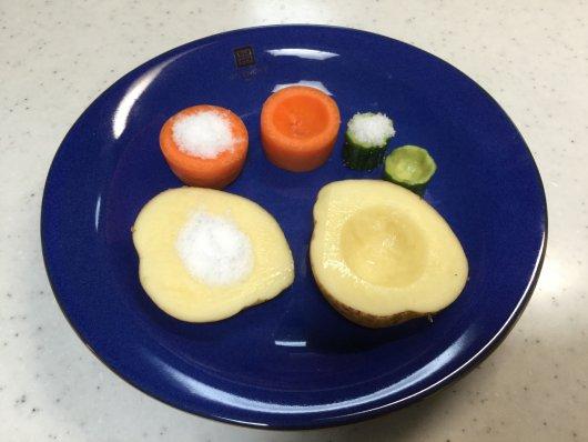 野菜に塩を入れる実験