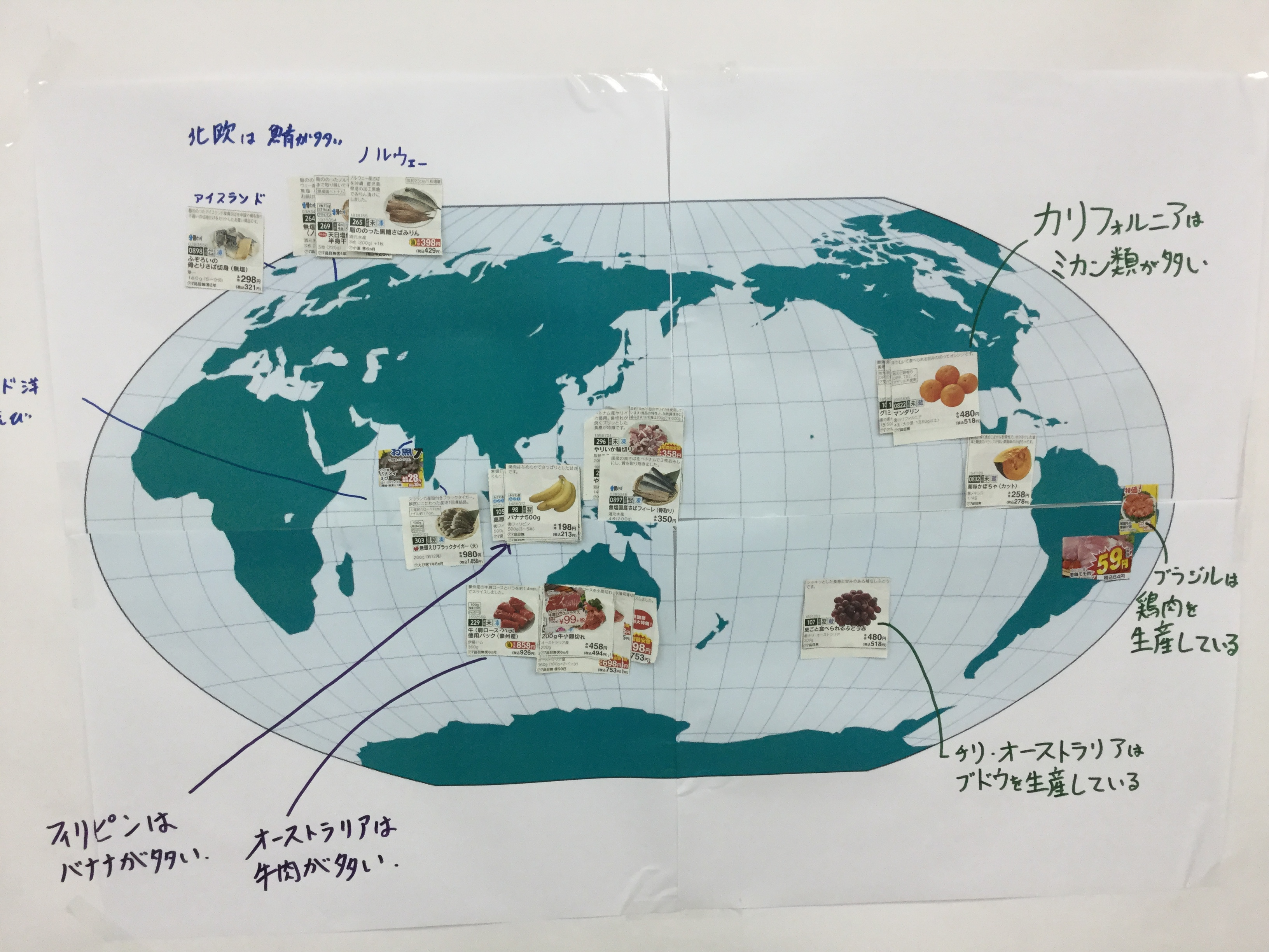 食べ物の政界地図